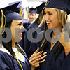 Rob Winner – rwinner@daily-chronicle.com<br /> <br /> Staci Ramos (left) and Breyonna Baisden share a moment together before entering the Hiawatha gymnasium for their graduation ceremony on Friday May 28, 2010 in Kirkland, Ill.