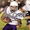 Beck Diefenbach  -  bdiefenbach@daily-chronicle.com<br /> <br /> Hampshire's running back Mike Kuefner (31) rushes with the ball during the first quarter of the game against DeKalb at DeKalb High School in DeKalb, Ill., on Friday Sept. 3, 2010.