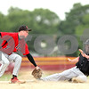 Beck Diefenbach  -  bdiefenbach@daily-chronicle.com<br /> <br /> Fulton's Ashton Hutton (31, right) slides in safe at second base beneath the tag of Indian Creek Cal Herrmann (7, left) during the fifth inning of the game at Indian Creek High School in Shabbona, Ill., on Monday May 17, 2010.