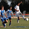 Beck Diefenbach – bdiefenbach@daily-chronicle.com<br /> <br /> Genoa-Kingston's Francisco Marquez (3, right) controls tha ball during the first half of the game against Rockford Christian at G-K High School in Genoa, Ill., on Thursday Sept. 30, 2010. G-K defeated Rockford Christian 1 to 0.
