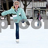 Rob Winner – rwinner@daily-chronicle.com<br /> Autumn Routson, 10, skates at the Genoa Community Ice Rink in Genoa, Ill on Saturday January 30, 2010.