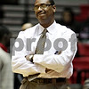 Beck Diefenbach  -  bdiefenbach@daily-chronicle.com<br /> <br /> Northern Illinois head coach Rocado Patton reacts to a foul call on NIU during the first half of the game against Western Michigan at the Convocation Center at NIU in DeKalb, Ill., on Wednesday Jan. 13, 2010.