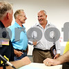 Rob Winner – rwinner@daily-chronicle.com<br /> <br /> On Friday July 30, 2010, at city hall in Genoa, Ill. (From left to right) Ty Lynch, Denny Leifheit, Pat Solar and Mike Webb gather during a ceremony for the retirement of Genoa Police Chief Pat Solar after 29 years of service.