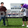 Rob Winner – rwinner@daily-chronicle.com<br /> <br /> Alex Wagner (left) and his brother Eli Wagner, 15, create promotional videos for the Genoa-Kingston football team.<br /> <br /> Genoa, Ill. <br /> Thursday September 23, 2010