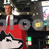 Kyle Bursaw – kbursaw@shawmedia.com<br /> <br /> Northern Illinois athletics director Jeff Compher addresses the media during the school's basketball media day at the Convocation Center on Tuesday, Oct. 25, 2011.