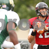 Kyle Bursaw – kbursaw@shawmedia.com<br /> <br /> Northern Illinois quarterback Chandler Harnish (12) looks to pass during first quarter of the game against Cal Poly at Huskie Stadium in DeKalb, Ill. on Saturday, Sept. 24, 2011.