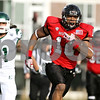 Rob Winner – rwinner@shawmedia.com<br /> <br /> Northern Illinois wide receiver Willie Clark (10) carries the ball after a Chandler Harnish pass for a 54-yard touchdown reception during the first quarter in DeKalb, Ill., on Friday, Nov. 25, 2011. Northern Illinois defeated Eastern Michigan, 18-12.
