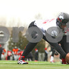 Kyle Bursaw – kbursaw@shawmedia.com<br /> <br /> Boomer Mays snaps on the sidelines during practice on Tuesday, Dec. 20, 2011.