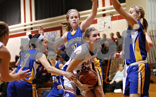 Rob Winner – rwinner@daily-chronicle.com<br /> <br /> Hinckley-Big Rock's Tess Godhardt looks to shoot during the fourth quarter in Shabbona, Ill. on Thursday, January 20, 2011.