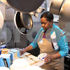 Kyle Bursaw – kbursaw@daily-chronicle.com<br /> <br /> Denise Davis preps chicken salad sandwiches in the newly revamped kitchen at Cathedral of Praise for those coming in to get a meal there in DeKalb, Ill. on Tuesday, Feb. 15, 2011.