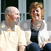 Rob Winner – rwinner@shawmedia.com<br /> <br /> Jim Anderson and his wife Norma, of 42 years, sit on the back porch of their home in DeKalb on Thursday, Oct. 6, 2011. Jim Anderson is recovering from diffuse large B cell lymphoma that he had treated in early June into July.