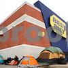 Kyle Bursaw – kbursaw@shawmedia.com<br /> <br /> The line of Black Friday shoppers camped out winds around the corner at Best Buy in DeKalb, Ill. on Thursday afternoon.<br /> <br /> Thursday, Nov. 24, 2011.