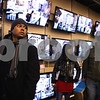 Kyle Bursaw – kbursaw@shawmedia.com<br /> <br /> Rohit Balpande, who started waiting in line outside Best Buy around 10 p.m. on Wednesday, glances around while waiting to redeem his voucher for a discounted 42-inch television and purchase several other electronics including a Playstation 3, a hard drive and a tablet just after midnight on Friday, Nov. 25, 2011.