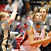 Rob Winner – rwinner@daily-chronicle.com<br /> <br /> DeKalb's Kelli Gerace takes a shot during the second quarter of Friday night's game at the Convocation Center in DeKalb, Ill., on Friday, January 28, 2011.