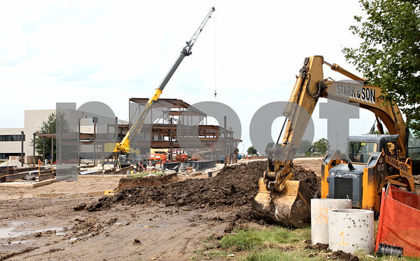 Rob Winner – rwinner@daily-chronicle.com<br /> <br /> Construction work continues on the new Student Services Center at Kishwaukee College on Thursday, July 28, 2011, in Malta, Ill.<br /> <br /> **Feel free to overlay text if you need to. - Rob