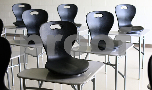 Kyle Bursaw – kbursaw@daily-chronicle.com<br /> <br /> The style of desks and chairs found throughout the classrooms of DeKalb High School, taken on Friday, July 29, 2011.