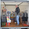 Larry Timpe, station manager at WLBK/WSQR, takes stock of some last-minute donations as the Freezin' for Food drive wrapped up Saturday at noon. The drive netted a total of 53,595 pounds of food to go to The Salvation Army of DeKalb County.<br /> <br /> By Nicole Weskerna - nweskerna@shawmedia.com