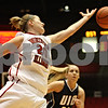 Rob Winner – rwinner@shawmedia.com<br /> <br /> Northern Illinois forward Jenna Thorp is unable to control a rebound during the first half in DeKalb, Ill., on Wednesday, December 14, 2011.