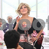 Kyle Bursaw – kbursaw@daily-chronicle.com<br /> <br /> Amberley Kowalski models a Henry Margu wig from Unique Concepts Salon during a fashion show at the Kishwaukee Cancer Center for survivors. Kowalski, 26, is currently in being treated for cancer.