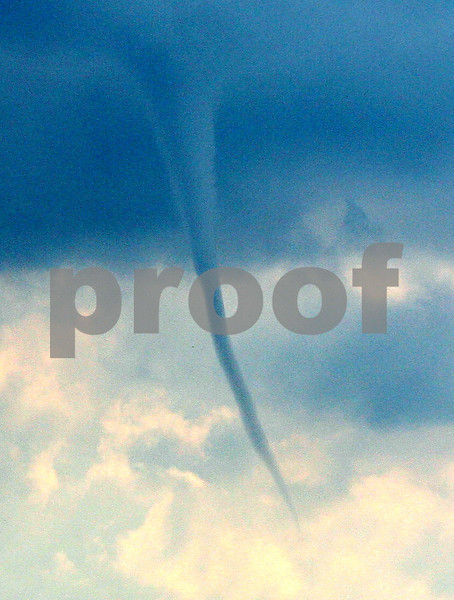 Rob Winner – rwinner@daily-chronicle.com<br /> <br /> A funnel cloud was spotted south of DeKalb on Friday afternoon.