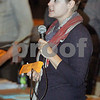 Wendy Kemp – For The Daily Chronicle<br /> <br /> Associate Producer, Summer Shelton, calls out numbers during the casting call at the Egyptian Theatre on Sunday.<br /> <br /> DeKalb, Ill.<br /> September 18, 2011
