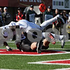 Rob Winner – rwinner@shawmedia.com<br /> <br /> Western Michigan's Johnnie Simon (3) touches Northern Illinois punter Ryan Neir (18) for a safety after a botched snap during the second quarter in DeKalb, Ill., on Saturday, Oct. 15, 2011. Northern Illinois defeated Western Michigan, 51-22.