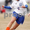 Rob Winner – rwinner@daily-chronicle.com<br /> <br /> Genoa-Kingston's Rachael Ellstrom moves the ball during the first half.