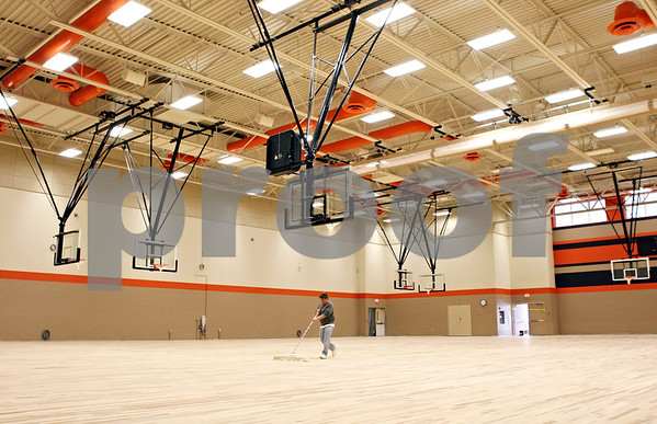 Rob Winner – rwinner@daily-chronicle.com<br /> <br /> The gymnasium of the new DeKalb High School on Wednesday, Feb. 23, 2011.