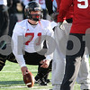 Kyle Bursaw – kbursaw@daily-chronicle.com<br /> <br /> Center Scott Wedige lines up during practice at Huskie Stadium on Thursday, March 24, 2011.