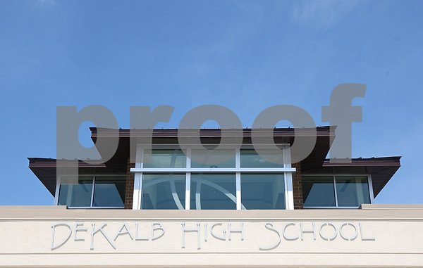 Kyle Bursaw – kbursaw@daily-chronicle.com<br /> <br /> Front entrance of the new DeKalb High School, taken on Friday, July 29, 2011.
