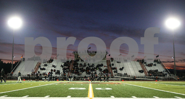 Kyle Bursaw – kbursaw@shawmedia.com<br /> <br /> The sun goes down over DeKalb High School's stadium before the football game against Kaneland on Friday, Sept. 30, 2011.