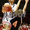 Rob Winner – rwinner@daily-chronicle.com<br /> <br /> Northern Illinois forward Kim Davis (24) draws a foul from Toledo guard Naama Shafir during the first half on Saturday, Feb. 26, 2011 in DeKalb, Ill.
