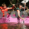 Kyle Bursaw – kbursaw@daily-chronicle.com<br /> <br /> Cory Deskins (left) and Jacob Thorne paddle their 'Tuff Guys' boat during the Kardboard Boat Regatta at Kingston Fest on Saturday, July 16, 2011.
