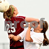Chronicle File Photo<br /> <br /> DeKalb's Alli Smith (9, right) collides with Plainfield North's Carlie Corrigan (25) during the second half of the game at DeKalb High School in DeKalb, Ill., on Monday April 12, 2010. Plainfield North defeated Dekalb 4 to 1.