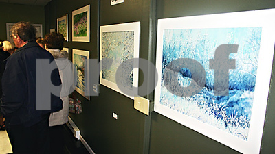 By ANDREW MITCHELL — amitchell@shawmedia.com<br /> Friends, family and admirers of the local artist Gingie Noe gathered at the Art Box in DeKalb Sunday for a gallery showing of her work. Noe died Thursday.
