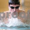 Kyle Bursaw – kbursaw@daily-chronicle.com<br /> <br /> Michael Gordon breaststrokes during swim practice at DeKalb high school on Thursday, Feb. 24, 2011.