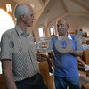 Wendy Kemp - For The Daily Chronicle<br /> <br /> Dan Chetti, an American Baptist missionary (right), talks with Rev. Wayne Rogers before his presentation at First Baptist Church in DeKalb on Wednesday.<br /> DeKalb 7/6/11