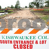 Kyle Bursaw – kbursaw@daily-chronicle.com<br /> <br /> The south entrance at parking lot at Kishwaukee College are closed for construction and renovation.<br /> <br /> Wednesday, June 8, 2011.