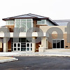 Rob Winner – rwinner@daily-chronicle.com<br /> <br /> The front entrance of the new DeKalb High School on Wednesday, Feb. 23, 2011.
