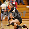 Rob Winner – rwinner@shawmedia.com<br /> <br /> DeKalb's Kendall Baum controls a ball during the first game of the Class 4A Elgin Regional championship on Thursday. DeKalb defeated South Elgin, 25-7 and 26-24.