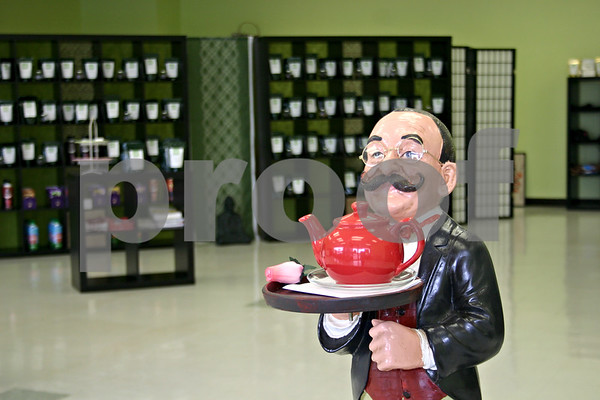 """Cecil"" the butler is ready to greet tea lovers at Babs and Coco's Tea Emporium in DeKalb. The store opened last month and offers 100 varieties of tea, as well as tea accessories.<br /> <br /> By NICOLE WESKERNA - nweskerna@daily-chronicle.com"