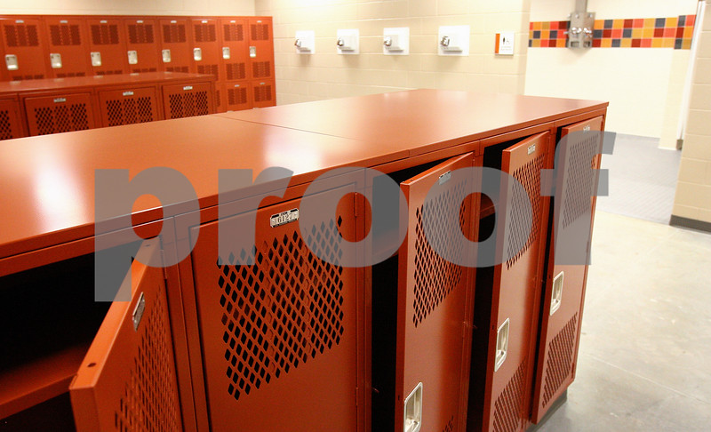 Kyle Bursaw – kbursaw@daily-chronicle.com<br /> <br /> The girl's locker room in the athletic wing of the new DeKalb High School.<br /> <br /> Friday, July 29, 2011.