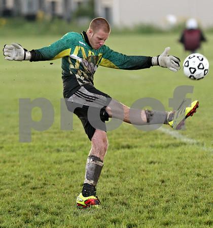 Sycamore goalkeeper Ethan Horlock