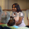 Wendy Kemp - For The Daily Chronicle<br /> <br /> Sarah Chetti, an American Baptist missionary (center), talks about her ministry in Lebanon at First Baptist Church in DeKalb on Wednesday.<br /> DeKalb 7/6/11