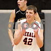 Chronicle File Photo<br /> <br /> DeKalb's Jordan Threloff and  Kaneland's Dave Dudzinski react after Kaneland is called for traveling and DeKalb receives the ball with second left in the fourth quarter of the IHSA Class 3A Regional championship game at Kaneland High School in Maple Park, Ill., on Friday March 3, 2010.