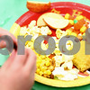 Kyle Bursaw – kbursaw@shawmedia.com<br /> <br /> Davenport Elementary kindergarten classes partook in a Thanksgiving 'feast' including corn, cornbread, candy corn, popcorn, corn nuts, pumpkin pie, jerky, apples and sweet potatoes on Tuesday, Nov. 22, 2011.