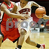 Rob Winner – rwinner@daily-chronicle.com<br /> <br /> Northern Illinois guard Marke Freeman moves toward the basket during the first half in DeKalb, Ill. on Wednesday, Jan. 19, 2011.