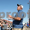"Rob Winner – rwinner@shawmedia.com<br /> <br /> Trying to settle the crowd of extras, Alex Lambert yells ""rolling,"" as filming for a movie starring Quaid and Zac Efron continues at Sycamore Speedway in Maple Park on Saturday, Oct. 8, 2011."