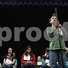 Rob Winner – rwinner@daily-chronicle.com<br /> <br /> Joseph Steger, 12, spells out a word during the practice round of the DeKalb County Spelling Bee on Saturday at Kishwaukee College.