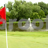 Kyle Bursaw – kbursaw@daily-chronicle.com<br /> <br /> The 17th hole at Kishwaukee Country Club has a fountain adjacent to the green. <br /> <br /> Tuesday, June 21, 2011.
